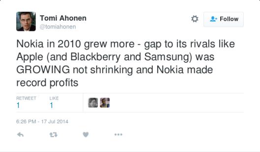 NokiaWasGrowingNotShrinkingAndMadeRecordProfits